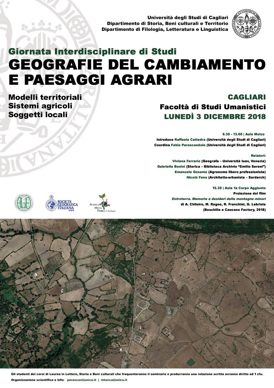 geografie del cambiamento e paesaggi agrari